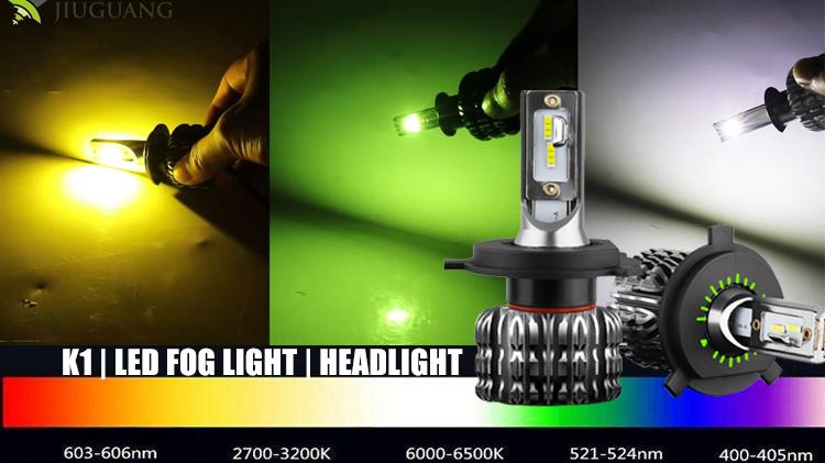 Super Lumineux Vert Jaune h4 led h7, haute Puissance luz bombillo luces focos 60w H13 H1 H3 Voiture H13 H4 H7 880 881 K1 Led Phare