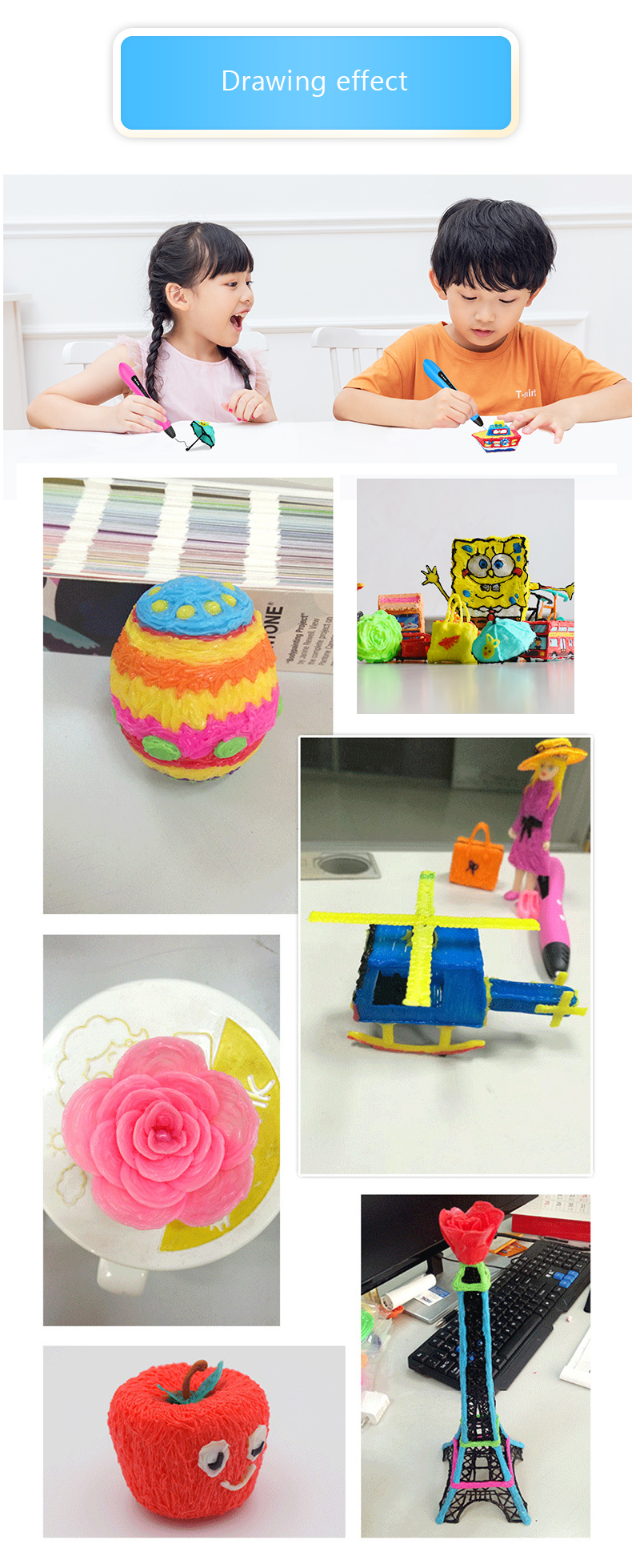 New arrival educational 3d pen set  printer kids toys educational children learning for sale