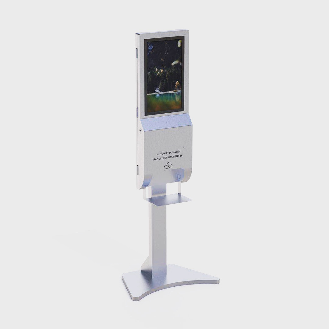21.5 inch stand alone Advertising Screen and touch free Auto hand sanitizer dispenser and scent diffuser