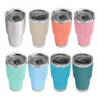 Wholesale Double wall Vacuum Insulated Beer Tumbler Travel Coffee Mug 20 oz 30 oz stainless steel tumbler