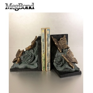 Colorful resin plastic butterfly bookend for home decor