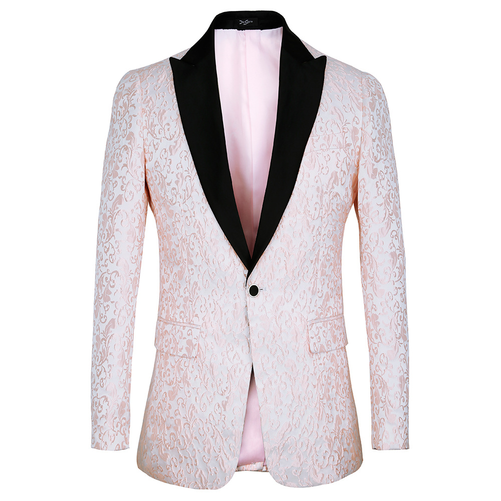Men <strong>Suits</strong> Embroidered Pink Wedding Men <strong>Suit</strong> Peaked Collar Slim Fit Jacket for Wedding Groom Tuxedos <strong>Formal</strong> <strong>Suits</strong>