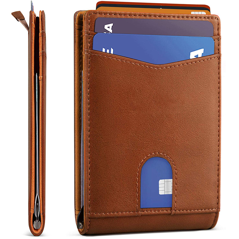 Mens Slim Bifold <strong>Wallet</strong> RFID Blocking Minimalist Front Pocket <strong>Wallets</strong> for Men