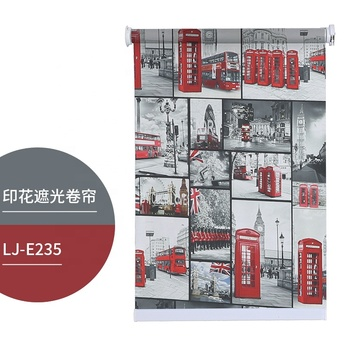 Modern Custom Logo Printing Designer 3D UV Digital Printed Fabric Roller Window Blind Shade
