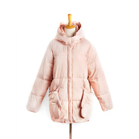 Pink Woman Long Warm Down Coat Winter 2019 Sale