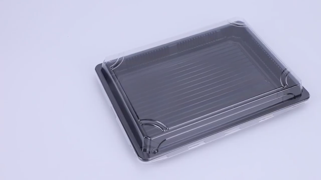 food packaging box small clear plastic boxes sushi container with lids