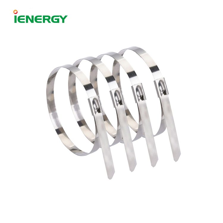 Factory direct price Self-locking ss stainless steel 300mm cable tie for solar power system