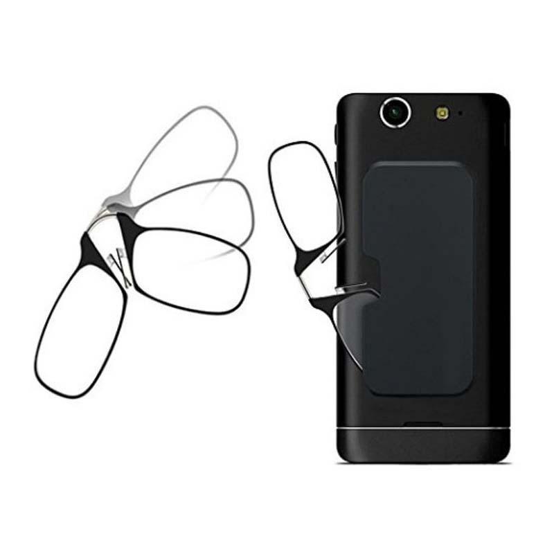 LB002-1 2020 Fashion Trendy Mini Reading Eyeglasses Without Arms Reading Eye Glasses With Ultra-thin Eyewear Case