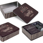 Metal Chocolate Box Cookie Can Rectangle Big Tin Box Biscuit Packaging