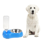 Factory Fashion High Grade Anti Skid Stainless Steel Double Mouth Pet Dog Feeders Bowl