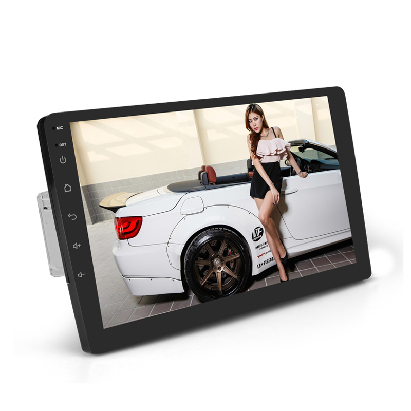 Universal Auto Multimedia Bluetooth/MP5/AM/FM/RDS Radio Audio Stereo DVD Player, 1 Din Tela de Toque carro Rear View