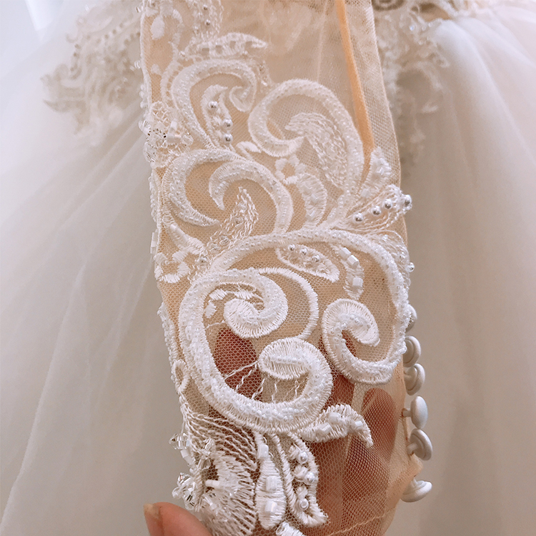 wedding dress long sleeves lace luxury amada robe Vestido de novias  casamento Brautkleid for bride veils long trailing