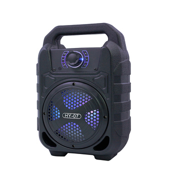 Samtronic portable karaoke Bluetooth speaker outdoor portable wireless microphone speaker with LED Light FM USB/TF Card HY07