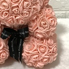 Teddy Bear Artificial Forever Flowers rosebear for Valentine's Day Graduation and Weddings