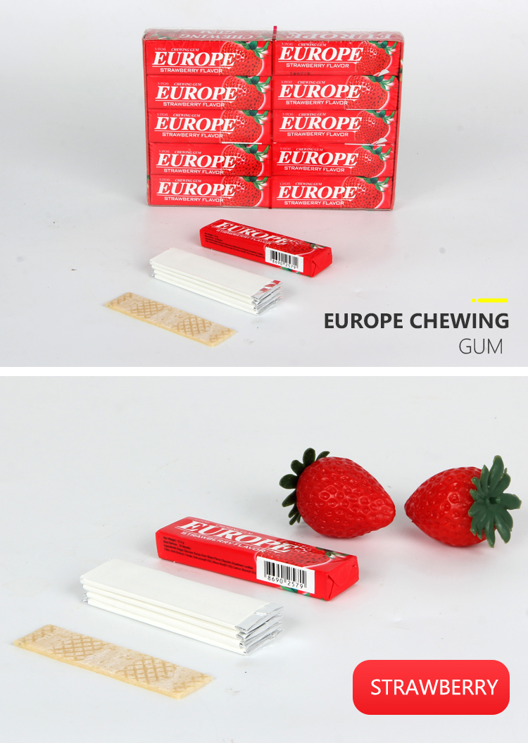 banana fruity flavor europe chewing gum fruit 5 sticks chewing gum
