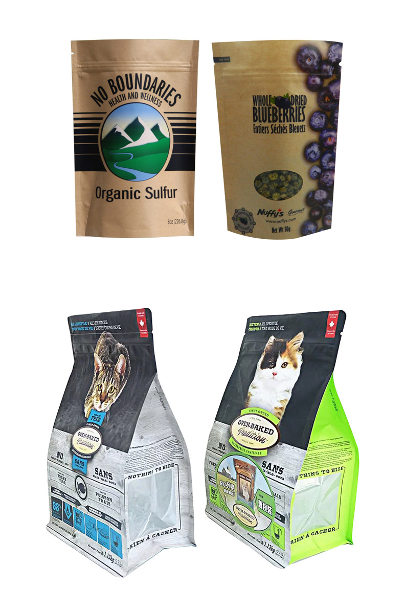 Custom printing mylar resealable food packaging zipper plastic stand up aluminum foil coffee bags