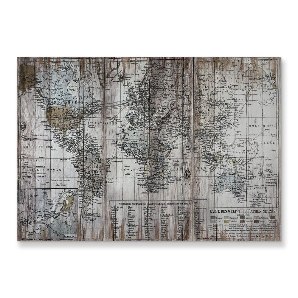 5 Bảng Điều Chỉnh Bản Đồ Cổ Điển Vải Treo Tường Nghệ Thuật Hình Ảnh Trang Trí Nội Thất Vải Hình Ảnh