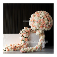 LFB1491 China customized decorative arrangements artificial flower balls for wedding table centerpiece
