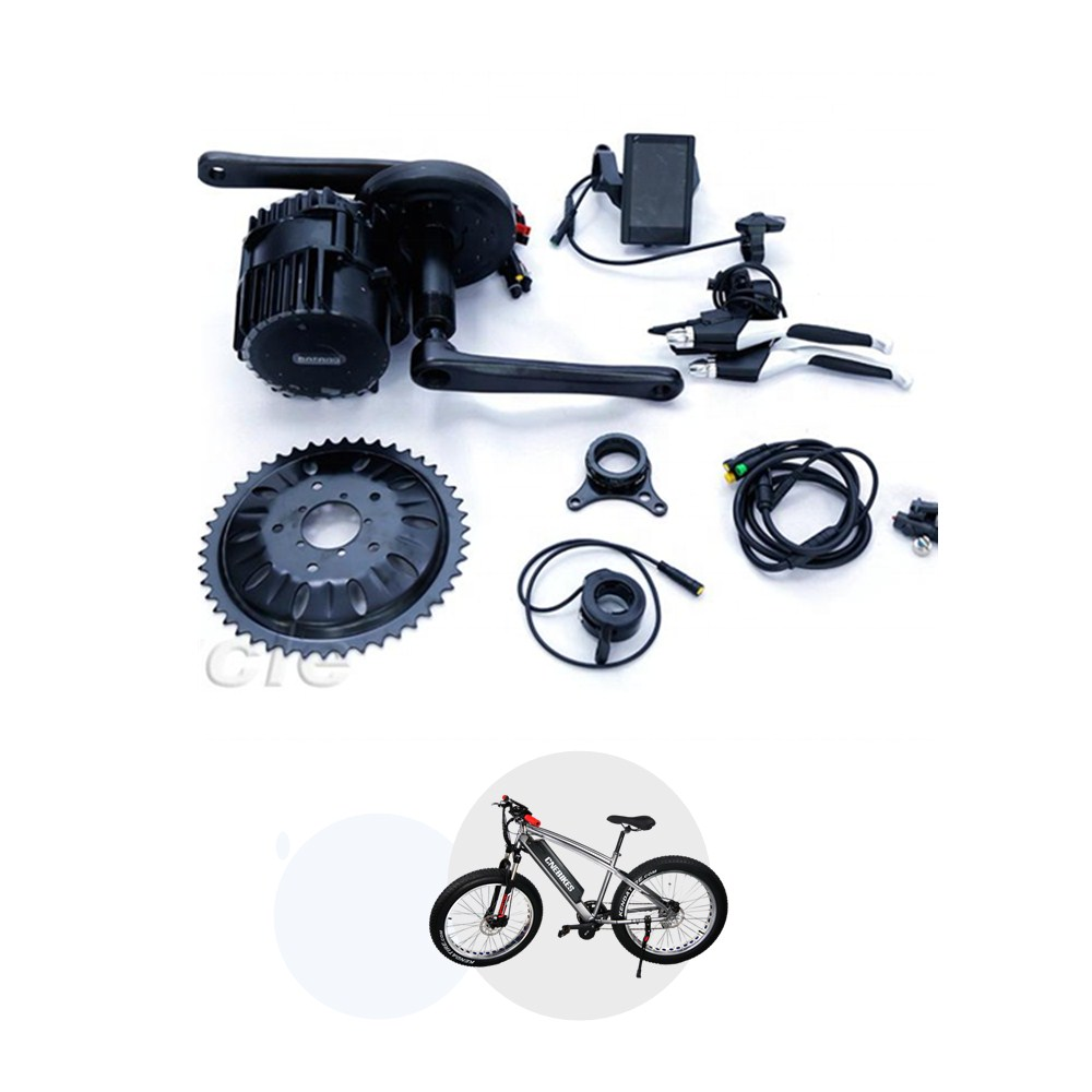 8FUN ebike kits BBS02B 36v 500w mid drive motor kit with 850C colorful display electric bike bicycle conversion kit