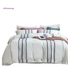 Bed Duvet Cover Flax Set Sheets Luxury Asian French Sheet 100% Linen Bedding