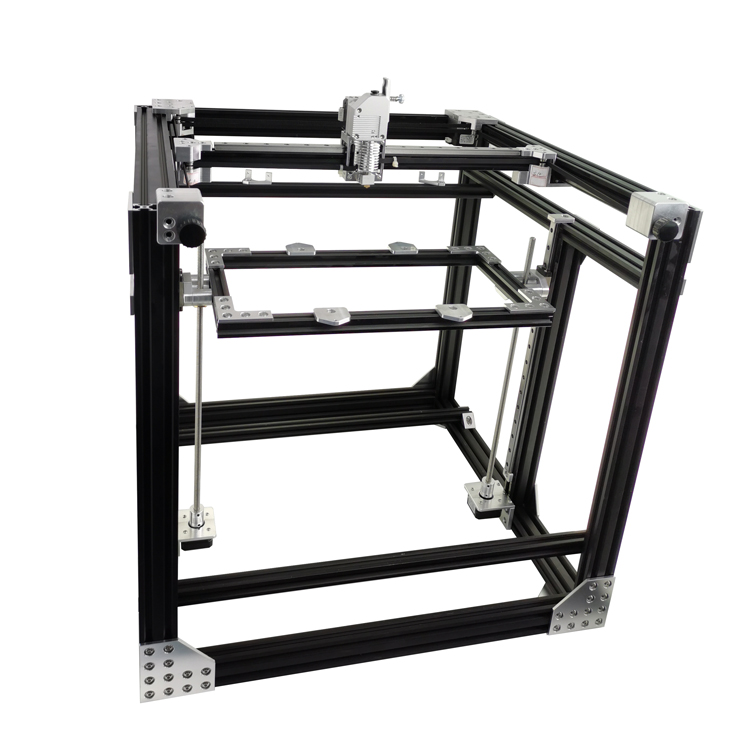 GIULY All Metal BLV mgn Cube 3D Printer Frame Kit 2020 2040 Aluminum Extrusion Frame CNC Machining