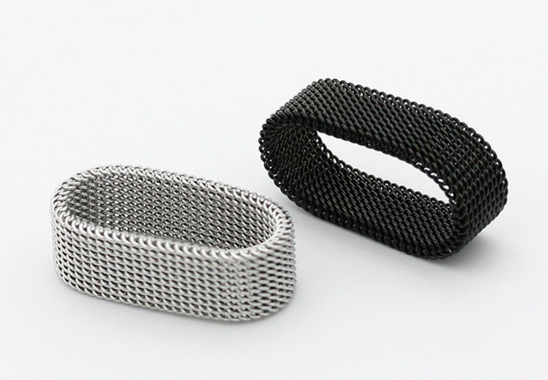 product-BEYALY-Dressy Braided Design Cheap Men Fine Jewelry Mesh Elastic Ring-img-1