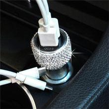 1 шт. QC 3,0 двойное быстрое автомобильное зарядное устройство USB 12-24 в автомобильный usb-порт 2 порта USB Автомобильное зарядное устройство для те...(Китай)