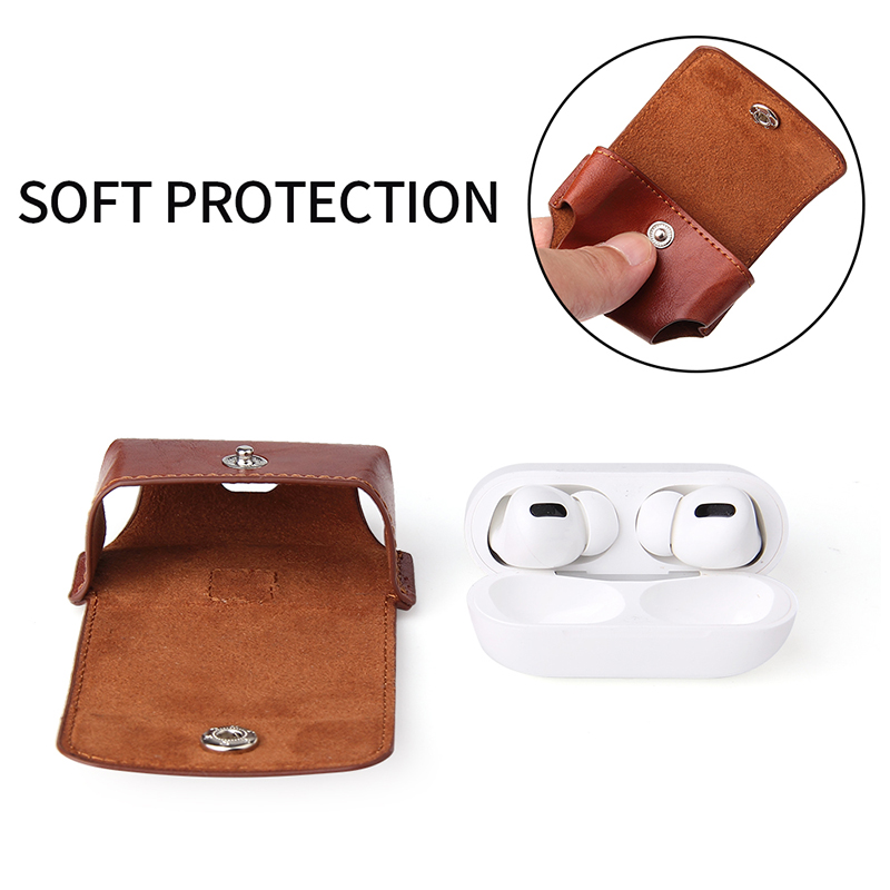 Wireless Earphone Handle Carry Bags For Airpods PRO Flip Leather Case Personalized Design Airpods Case Custom LOGO Accept