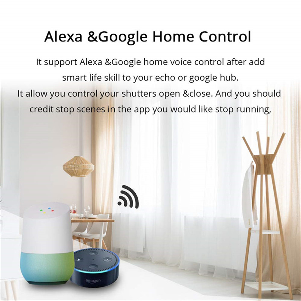 Smart Home Automation System Alexa Google Home IFTTT Curtain Switch WiFi Touch Switch