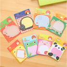 Korean Creative Stationery Cute Memo Pad, Cartoon ZOO Animal Paradise Removable Fancy Sticky Note