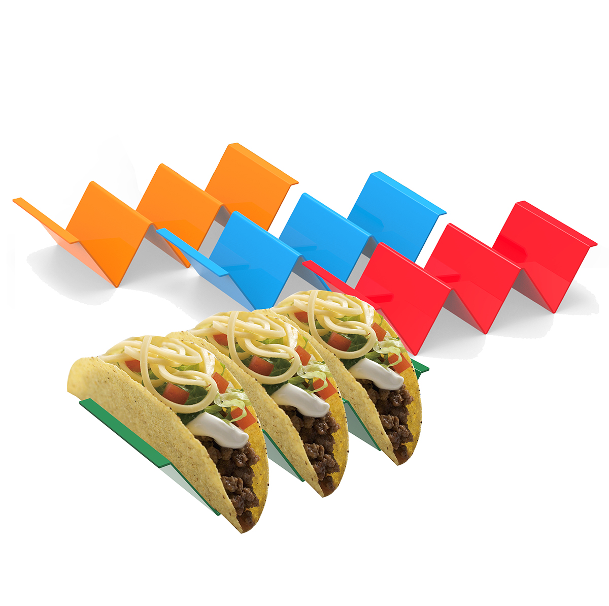 Food grade kunststoff taco trays stand Tablett spülmaschine und mikrowelle verfügbar taco halter