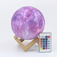 Creative Star Night Lamp 3D Printing USB Space Starry Led Nightlight