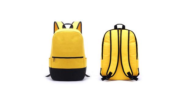 Genç moda sırt çantası özel sarı polyester basit rahat sırt çantası