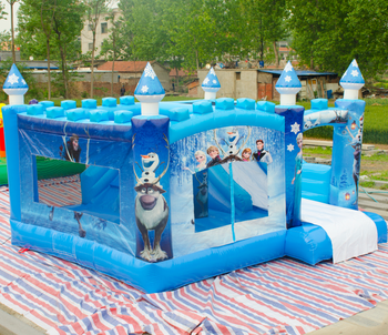 Anna's Ice Mountain Frozen Castle / inflatable frozen castle / frozen inflatable jumping castles