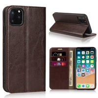 iCoverCase Cell Phone Case Genuine Wallet Flip Cover Leather Case For iPhone 11 Pro Max 6 6S 7 8 Plus 5 5s SE X S XR XS Max