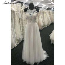 Белое Кружевное возлюбленная с длинной шеей свадебное платье со шнуровкой сзади Свадебное Платье(China)