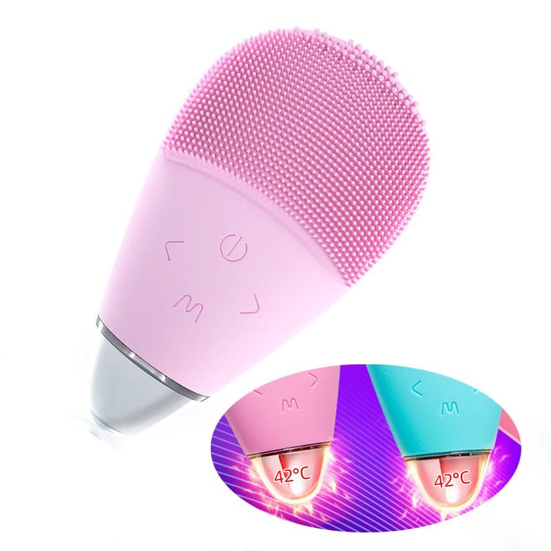 2020 Новый зарядный ремень Отопление лицо массажер звуковая волна мягкая силиконовая щетка для чистки лица