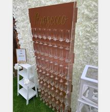 Rose Gold Acryl Hochzeit Champagne Wand Plexiglas Prosecco Display <span class=keywords><strong>Rack</strong></span>