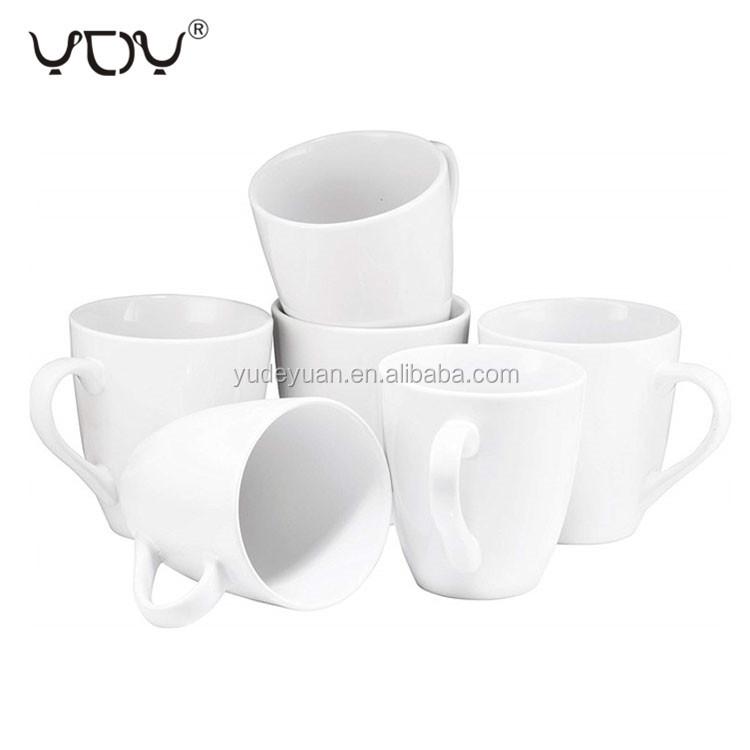 11oz eco ware V shape pure white ceramic porcelain coffee