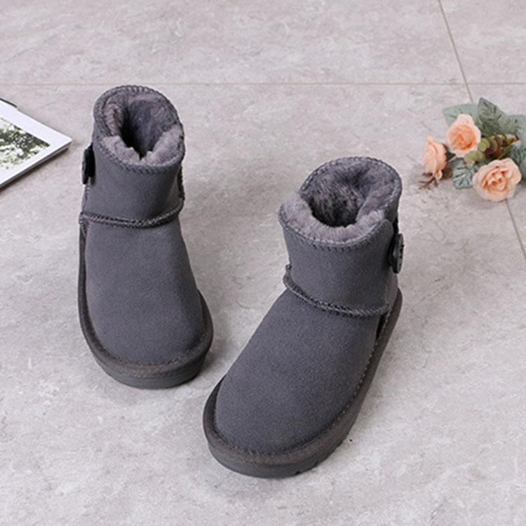 Factory direct wholesale kids fur boots fur boots for little girls rabbit fur boots