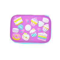 Custom PU Cute EVA Pen Pencil Case Smiggle Organizer Box for School Children
