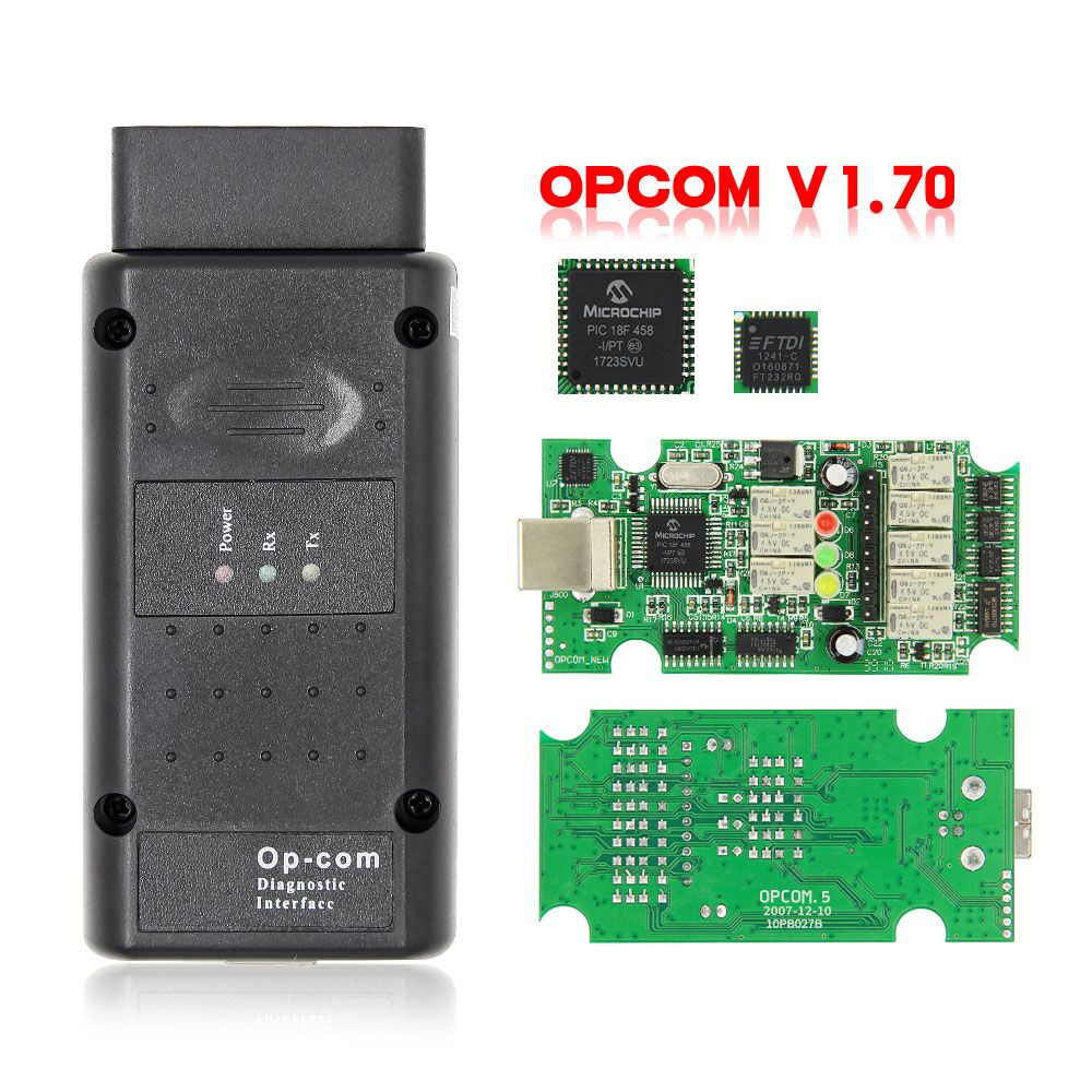 High Quality OPCOM 2014V V1.7 OBD2 Diagnostic CAN-BUS with PIC18F458 Chip for Opel Scan Diagnostic Tool