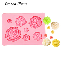 D1023 DIY 3D Rose Sugarcraft Silicone Fondant Mold Wedding Cake Decorating Tools flower Resin Clay Gumpaste Molds
