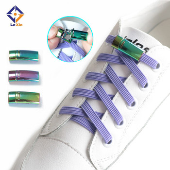 IN STOCK Colorful Outdoor Flat Reflective Magnetic Buckle Quick Locking Shoe Lace No Tie Elastic Shoelaces for kids