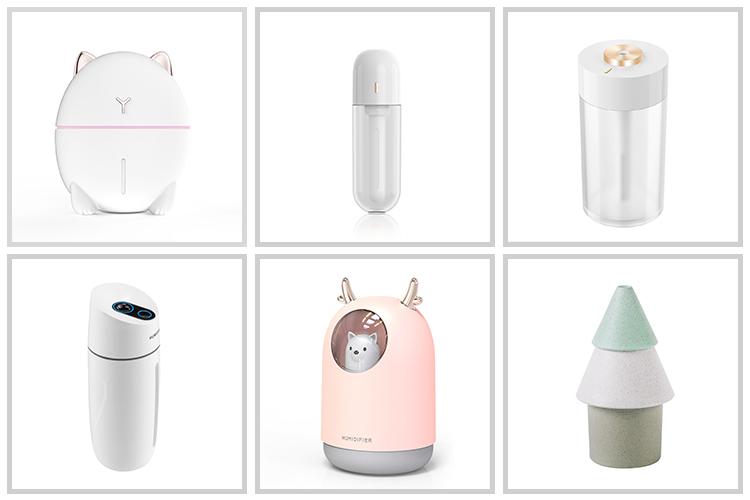 WSTA portátil de escritorio purificador de niebla fría 7 colores LED Mini Usb humidificador de aire para la piel seca casa dormitorio