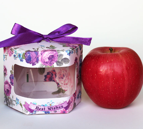 Wholesale  Christmas Apple Paper Box Gift Candy Cookie Santa DIY Packing Box With PVC Window