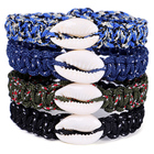 Bracelets Shell Bracelet Shell Friendly Swede Paracord Survival Bracelets Shell Umbrella Rope Bracelets Pulseira Luxury Rope Bracelet Retro Ladies Jewelry