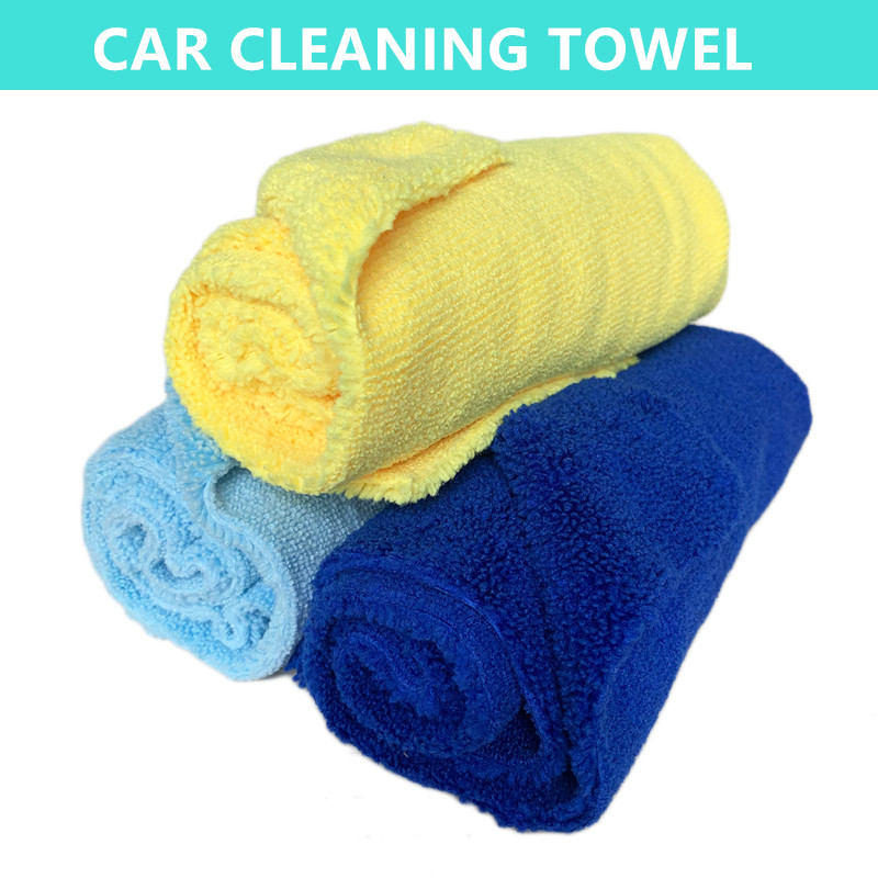 wholesale high quality large towel for car drying microfiber short long pile car cleaning towel