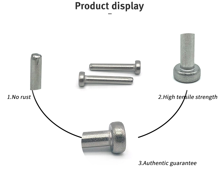 Custom Flat Head Rivets Stainless Steel/Aluminum Solid Rivets