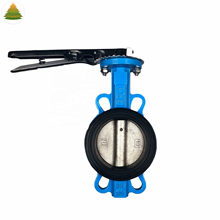 2 Inci PN16 Disesuaikan Manual Instalasi Wafer Butterfly Valve